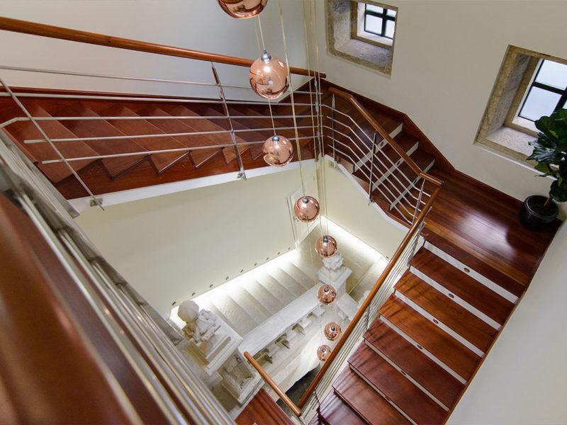 Escalera Pazo Mendoza Baiona
