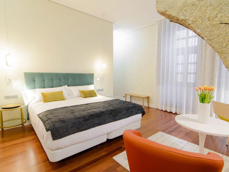 Interior habitación hotel Baiona