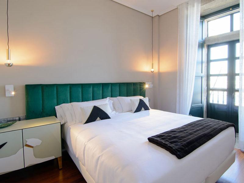 Interior habitación hotel baiona Pazo Mendoza 3