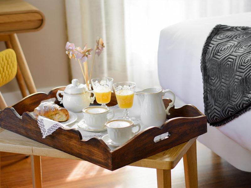 Desayuno en habitación Pazo Mendoza 2