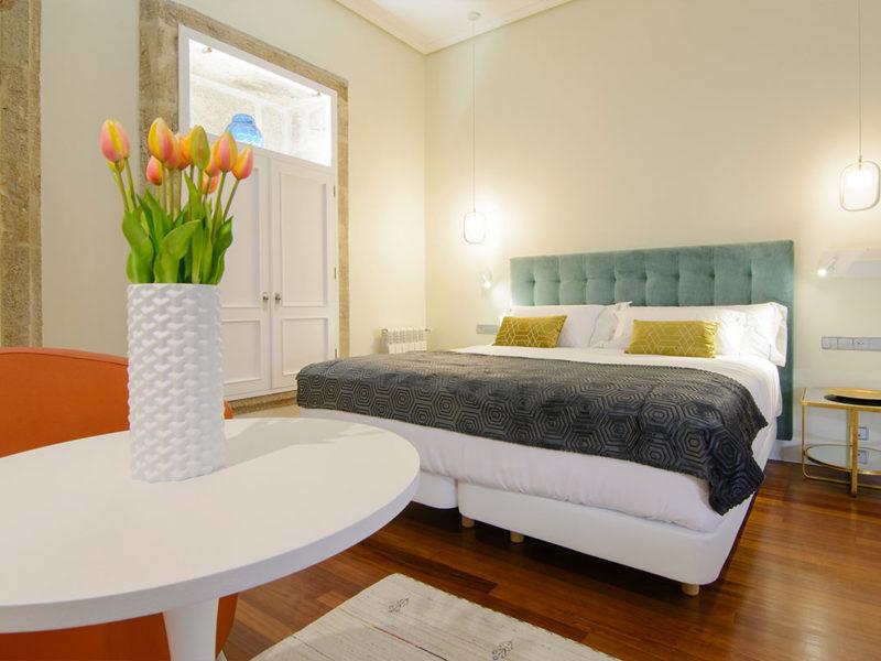 Interior habitación hotel Baiona 4